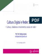 #Cultura Cidadania e Movimentos Sociais Em Rede