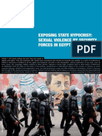 State sexual violence in Egypt report
