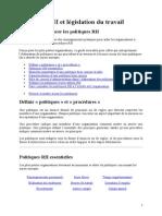 Politiques RH Et Législation Du Travail