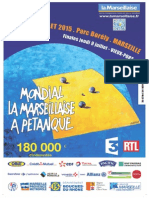 Dossier de Presse Mondial la Marseillaise à pétanque 2015