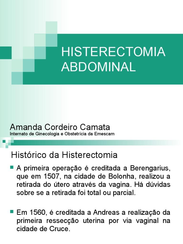 Subtotal histerectomia que es