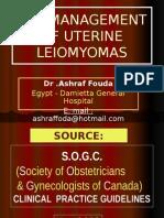 management mioma uteri