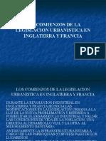 Los Comienzos de La Legislacion Urbanistica en Inglater