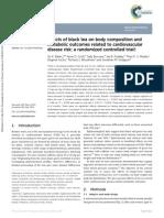 Bohn Et Al. 2014 - Black Tea and Body Composition RCT