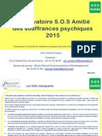 Observatoire SOS Amitié des souffrances psychiques 2015