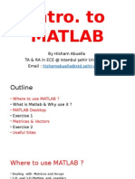 Intro to Matlab