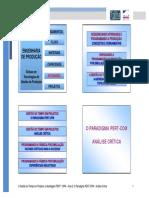 Aula 2 - O Paradigma PERT-CPM - Analise Critica
