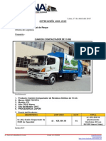 Camion Compactador de Basura Reque