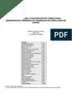 Temas de Monografia e Artigo