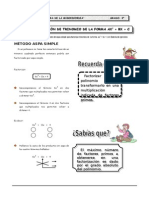 factorización  aspa  simple-