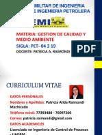 Presentacion Gestion de Calidad y Medio Ambiente II-2014