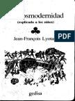 Lyotard La Postmodernidad