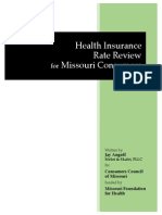 Health Insurance Rate Review for Missouri Consumers