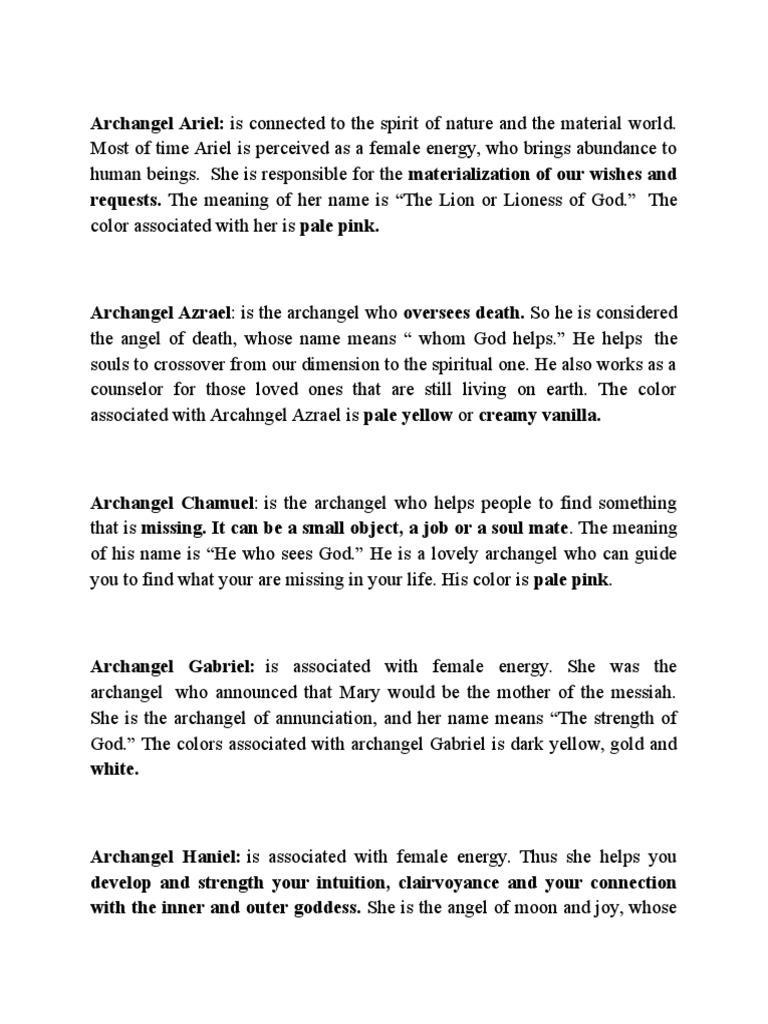 Archangels | Archangel | Angel