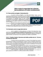 1 - 13 Delitos Contra La Seguridad de La Nación, Contra Los Poderes Públicos y El Orden Constitucional