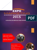 Expo Marketing 2015 Catálogo y Servicios de Valor Agregado