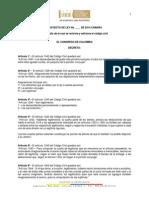 Proyecto de Ley 238 de 2015 Libertad de Testar