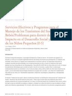 El Manejo de Los Trastornos Del Sueno de Bebesproblemas Para Dormir Del Nino y Su Impacto en El Desarrollo Social y Emocional de Los Ninos Pequenos 0 5