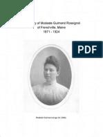 Modeste Guimond Diary 1871-1924