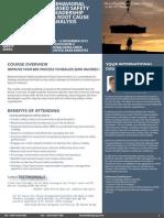 Behavioral Based Safety Leadership & Root Cause Analysis, 08 - 12 November 2015 Dubai UAE / 06 - 10 December 2015 Singapore