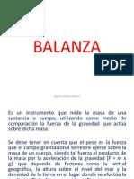Balanza Exposicion de Nociones de Ins.