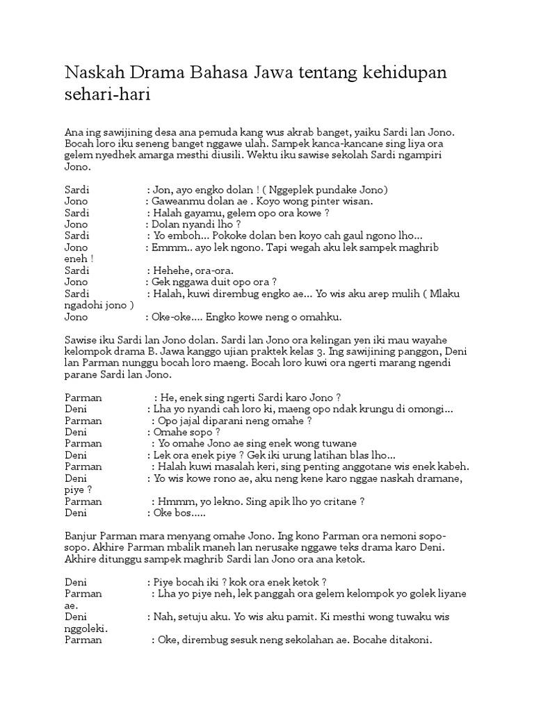 Contoh Percakapan Bahasa Jawa 2 Orang Aneka Macam Contoh