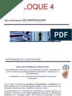 Certificado Electrónico BLOQUE 4 Autoridades de Certificación