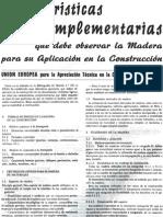 Características Complementarias Que Debe Observar La Madera Para Su Aplicación en La Construcción