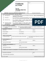 Advanced Health Directive Registration Form