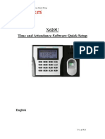 Time and Attendance Quick Setup_X629U
