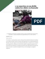 Doble atentado contra los chiíes en Karachi_El País 2010