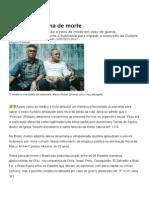 O Brasil e Pena de Morte
