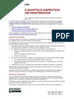 Guide Scaffold Inspection Maintenance