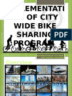 Implementation of City Wide Bike sharing Program