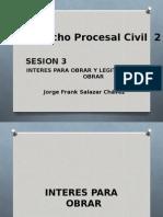 Sesion 3 Interes Para Obrar y Legitimidad Para Obrar Procesal Civil