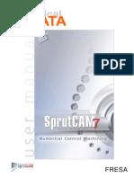 SprutCAM Tutorial Fresa Placa 3D