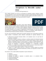 Conditiile de Inregistrare La Directiile Sanitar Veterinare Judetene