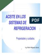Aceites en Los Sistemas de Refrigeración