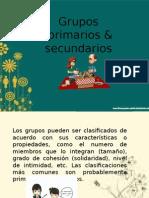 Grupos Primarios y Secundarios DS