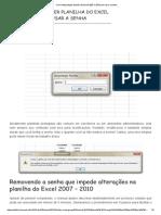 Como Desproteger Planilha Do Excel 2007 e 2010 Sem Usar a Senha