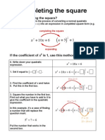 Completing the Square - Mathematics