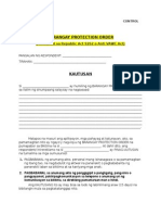Vawc Form No 4. Protection Order