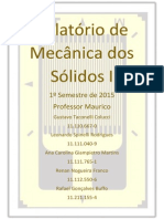 Relatório de Mecânica Dos Sólidos