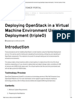 Deploying OpenStack in a Virtual Machine Environment Using OpenStack Deployment (TripleO) - Red Hat Customer Portal