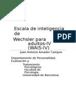 Escala de Inteligencia de Wechsler Para Adultos-WAIS-IV