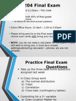 Week 12 - Practice Final Exam Questions
