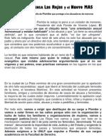 Comunicado de Prensa Las Rojas y El Nuevo Mas