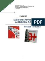 Proiect Antibiotice_EVALUAREA AFACERII