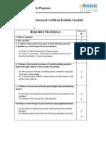 28-unit tesol portfolio checklist