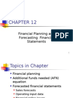 Ch.12 - 13ed Fin Planning & Forecasting